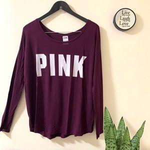 Pink VS Scoop Neck Long sleeves Top